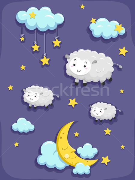 Dreams and Sleep Design Elements Stock photo © lenm