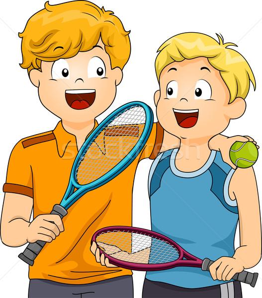 Lawn Tennis Boys Stock photo © lenm