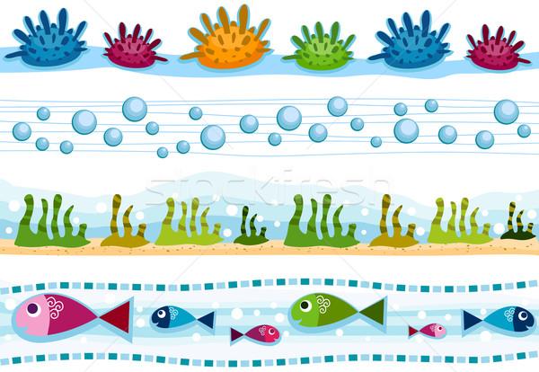 Underwater Borders Stock photo © lenm