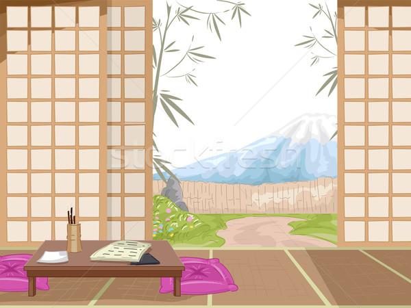 日本語 宿 インテリア 実例 風景 背景 ストックフォト © lenm