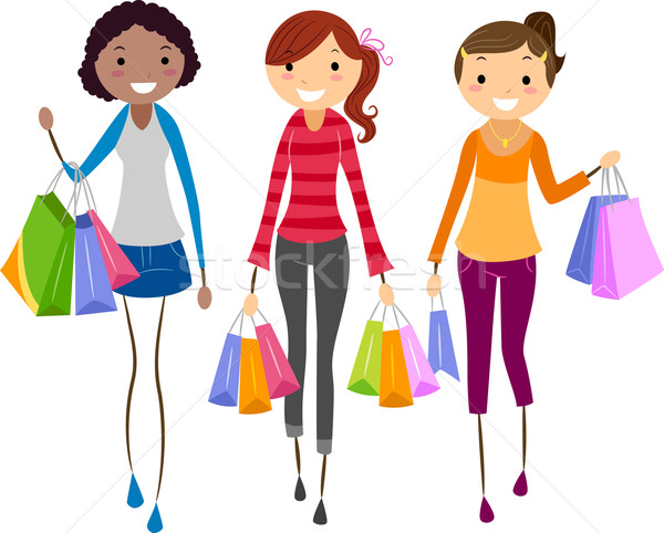 Girls Shopping Stock photo © lenm