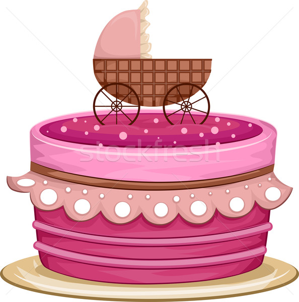 Cake Crib Stock photo © lenm