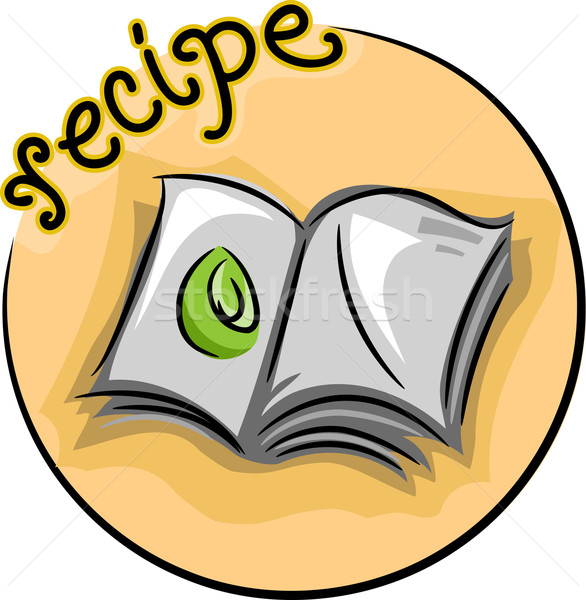 Recept icon illustratie Open boek passie Stockfoto © lenm