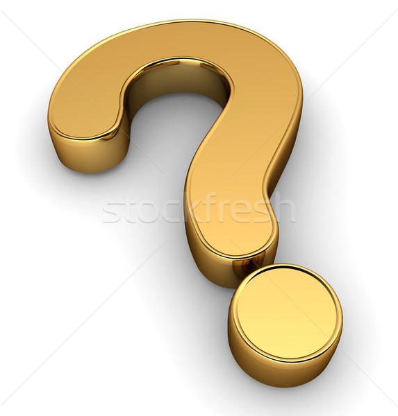 вопросительный знак 3d иллюстрации Cartoon иллюстрация символ оказывать Сток-фото © lenm