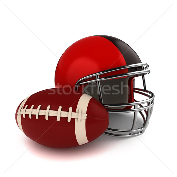 Footbal and Football Helmet Stock photo © lenm