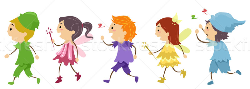 Traje crianças ilustração menino Foto stock © lenm