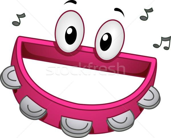 Tambourine Mascot Stock photo © lenm
