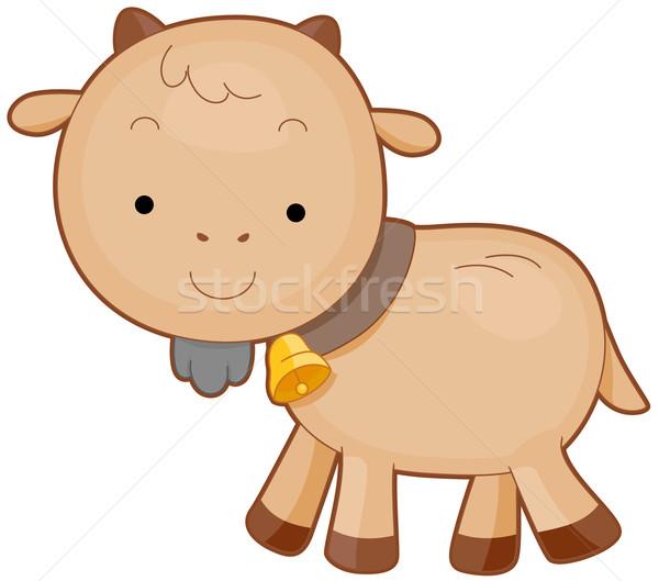 Bonitinho cabra sino em torno de pescoço Foto stock © lenm