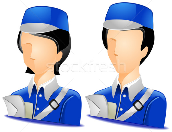 Courier Avatars Stock photo © lenm