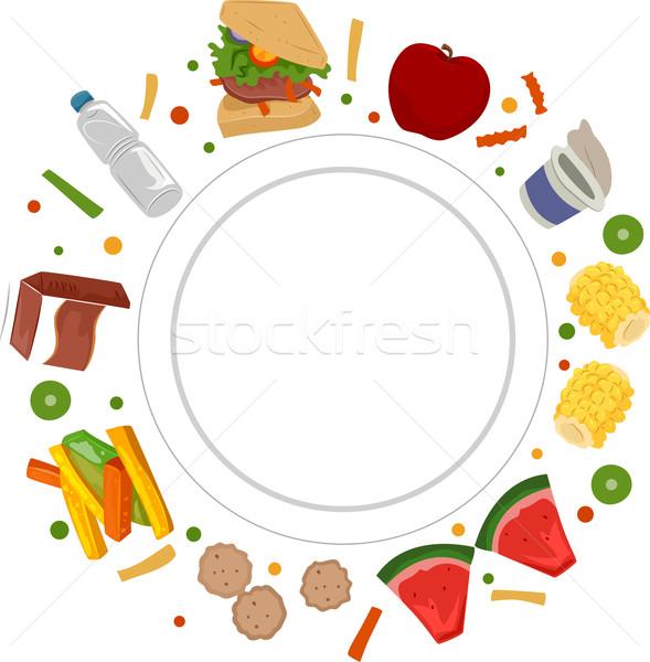 étel tányér illusztráció üres különböző természet Stock fotó © lenm