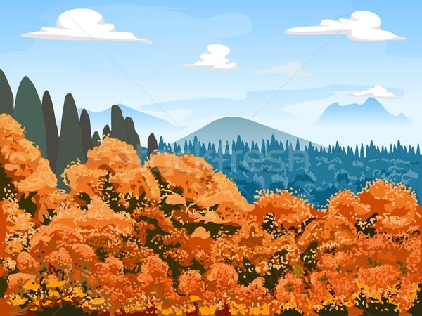 Autumn Mountain Scene Stock photo © lenm