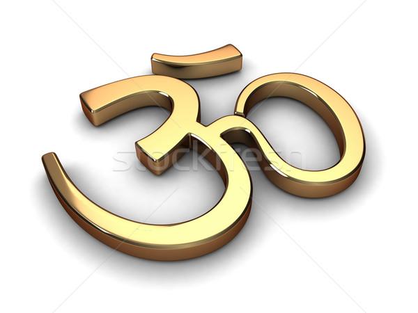 Hinduizm symbol 3d ilustracji cartoon religii ikona Zdjęcia stock © lenm
