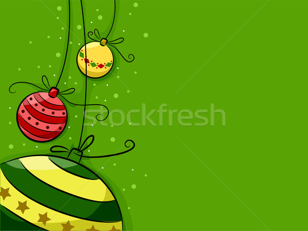 Christmas illustratie ontwerp achtergrond groene Stockfoto © lenm