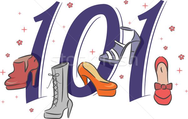 обувь 101 иллюстрация покупке моде Сток-фото © lenm