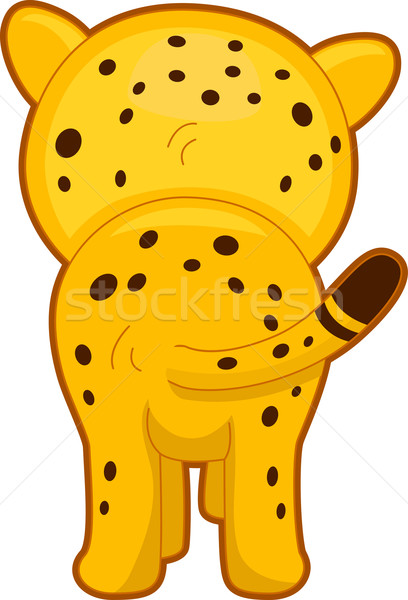 Cheetah Back View Stock photo © lenm