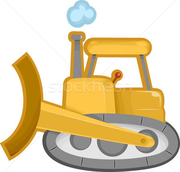 Excavadora Cartoon ilustración construcción diseno Foto stock © lenm