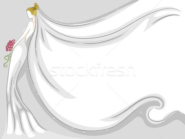 Peçe arka plan örnek dizayn sanat Stok fotoğraf © lenm