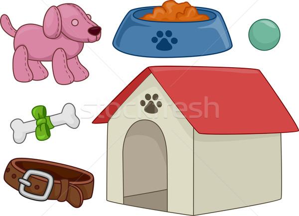 собака Элементы иллюстрация различный дизайна цифровой Сток-фото © lenm