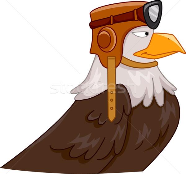 орел экспериментального талисман иллюстрация птица Сток-фото © lenm
