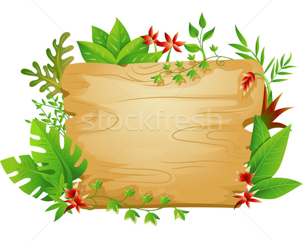 jungle border sign vector illustration lenm 4672305 stockfresh rh stockfresh com vector jungle leaf vector jungle leaves