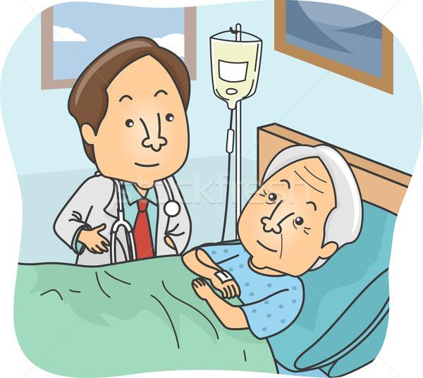 Senior Patient Stock photo © lenm