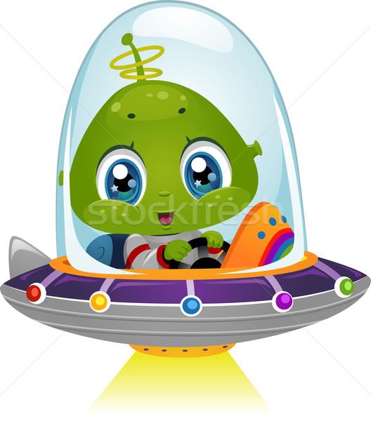 外国 スペース 船 ビーム 実例 少年 ストックフォト © lenm