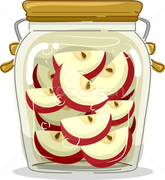 Canned Apple Jar Stock photo © lenm