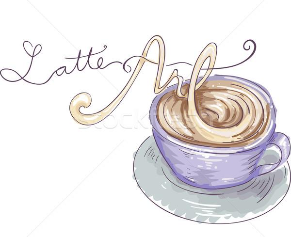 Latte Art Stock photo © lenm