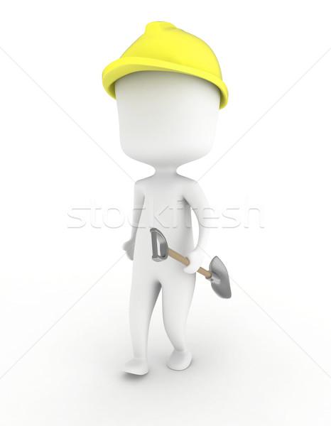 Man Carrying a Shovel Stock photo © lenm