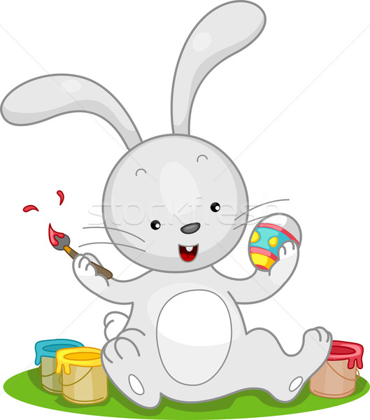 Easter Bunny Paint Stock photo © lenm