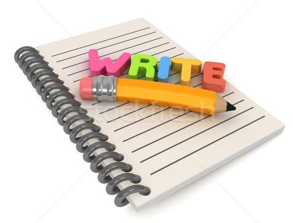 Writing Stock photo © lenm