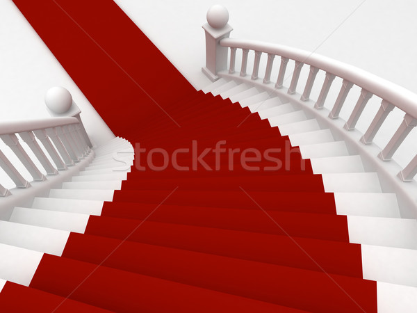 Red Carpet Staircase Stock photo © lenm