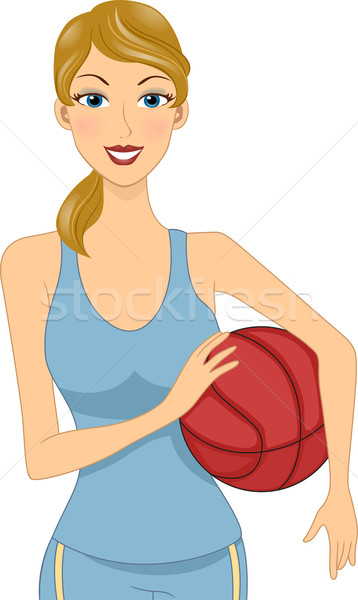 Basketball Girl Stock photo © lenm