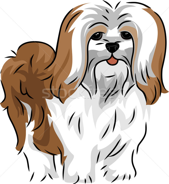 Illustratie cute hond vector geïsoleerd Stockfoto © lenm