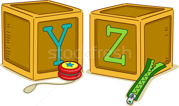 Wood Blocks YZ Stock photo © lenm