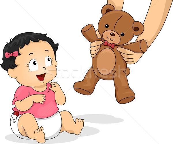 Teddy Bear Girl Stock photo © lenm
