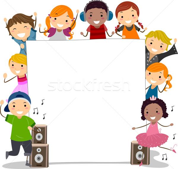 Dance Class Kids Stock photo © lenm