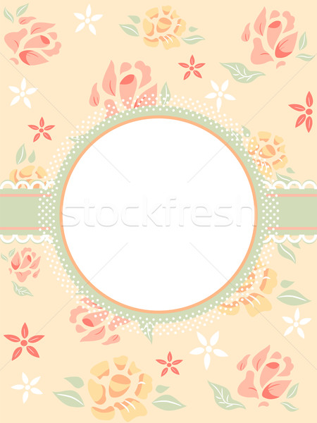 Shabby Chic Frame Stock photo © lenm