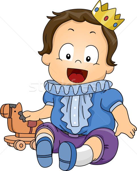 Pequeno príncipe ilustração bebê menino brinquedo Foto stock © lenm