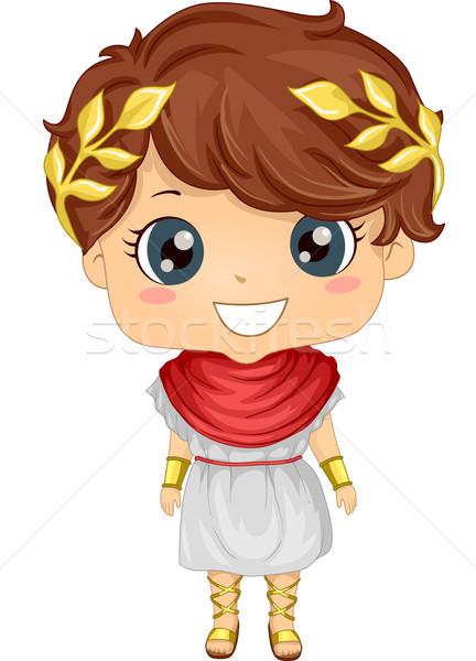 Római jelmez fiú illusztráció visel fiatal Stock fotó © lenm