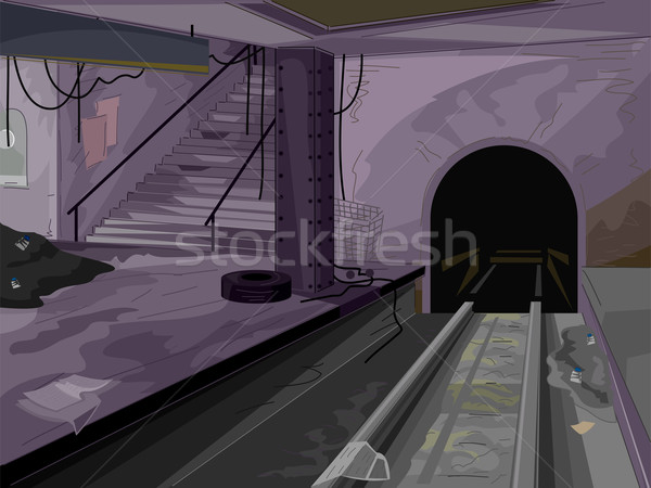 Stock photo: Abandoned Subway Scene
