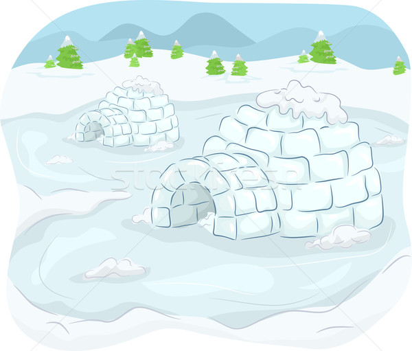 Igloo Stock photo © lenm