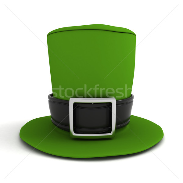 Chapeau 3d illustration vert célébration 3D illustration Photo stock © lenm