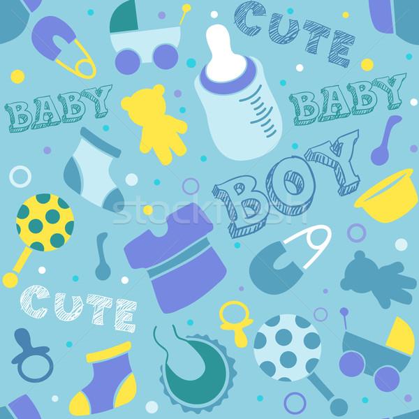 Baby jongen achtergrond ontwerp blauw vector illustratie lenm 901959 stockfresh - Ruimte jongensbaby ...