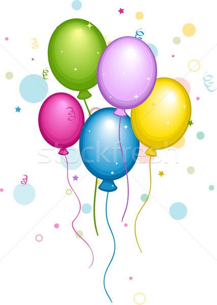 Balloons and Confetti Stock photo © lenm