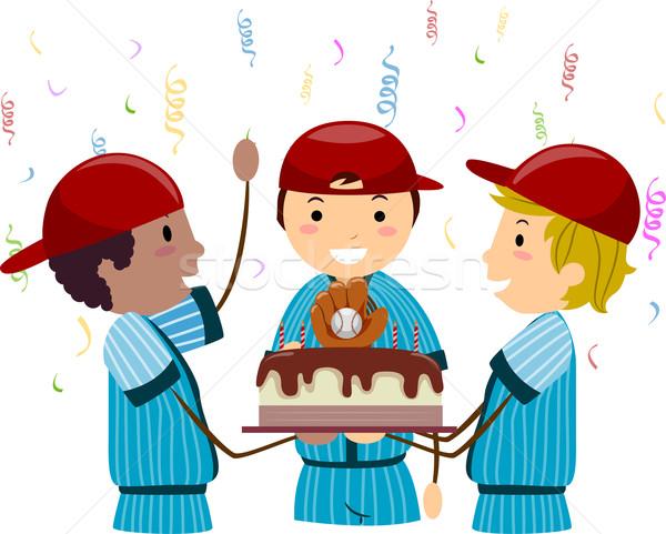 Beisebol aniversário ilustração celebração crianças clube Foto stock © lenm