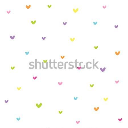 Seamless heart pattern Stock photo © LeonART