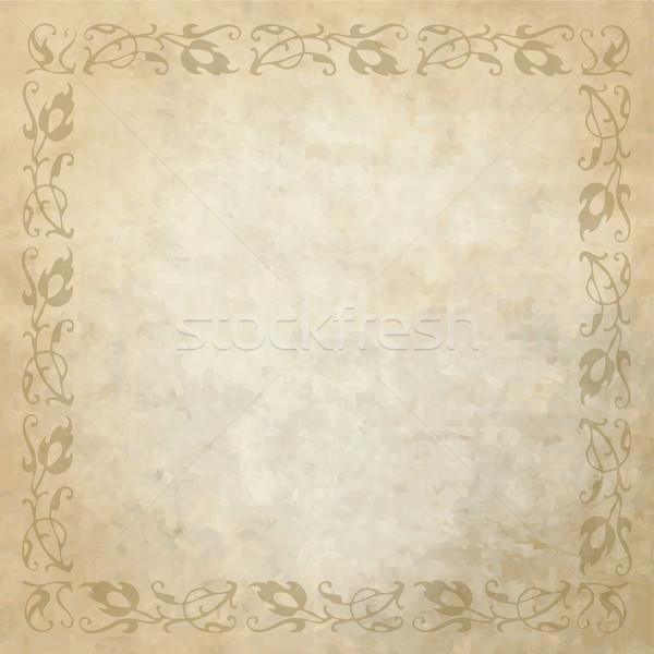 Történelmi öreg klasszikus minta régi papír copy space Stock fotó © LeonART