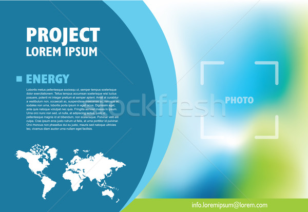 Brochure business template for publishing, presentation. Design  Stock photo © LeonART