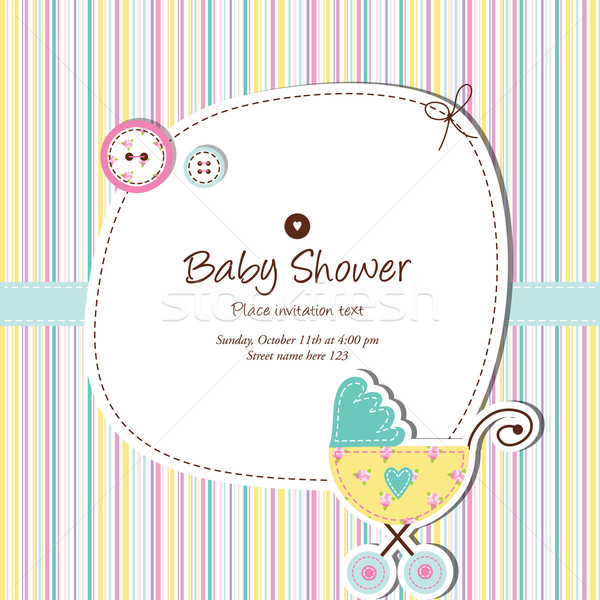 Baby card with copy space  Stock photo © LeonART